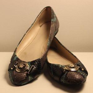 Stunning Versace Ballerina Flats, Snakeskin
